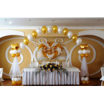 Оформление свадьбы шарами