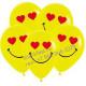 Смайл влюблённый, жёлтый пастель