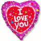 Я тебя люблю Сердечки и крестики